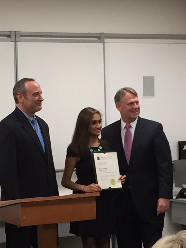 Congratulations to Hemali Rami, recipient of the @HoCoGovExec award for Political Science!