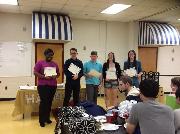 Congratulations to the winners of the Hammond Music Department scholarships!